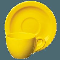 Tazza caffè Trendy giallo