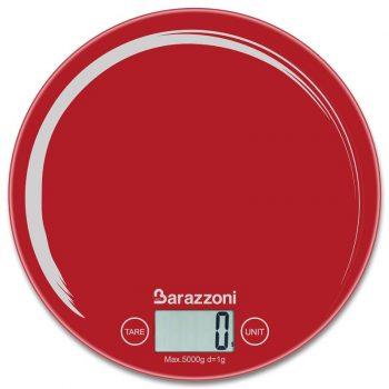 Barazzoni Bilancia digitale tonda rosso pennellata